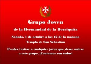 2016-09-14 Grupo Joven Convocatoria