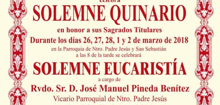 Solemne Quinario en honor de los Sagrados Titulares