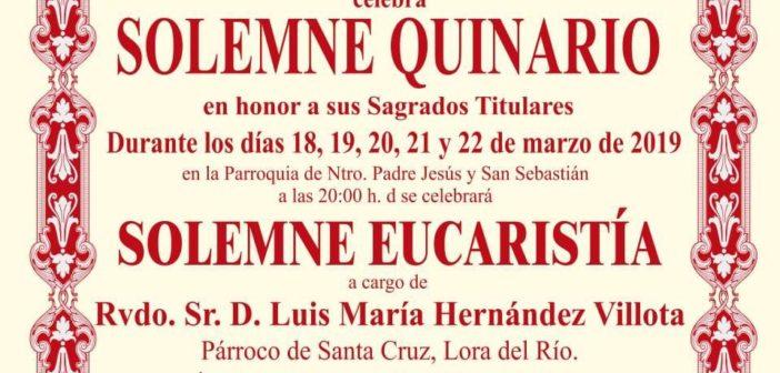 Solemne Quinario en honor a sus Sagrados Titulares