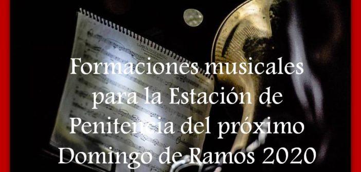 Bandas de música para la Estación de Penitencia del próximo Domingo de Ramos 2020